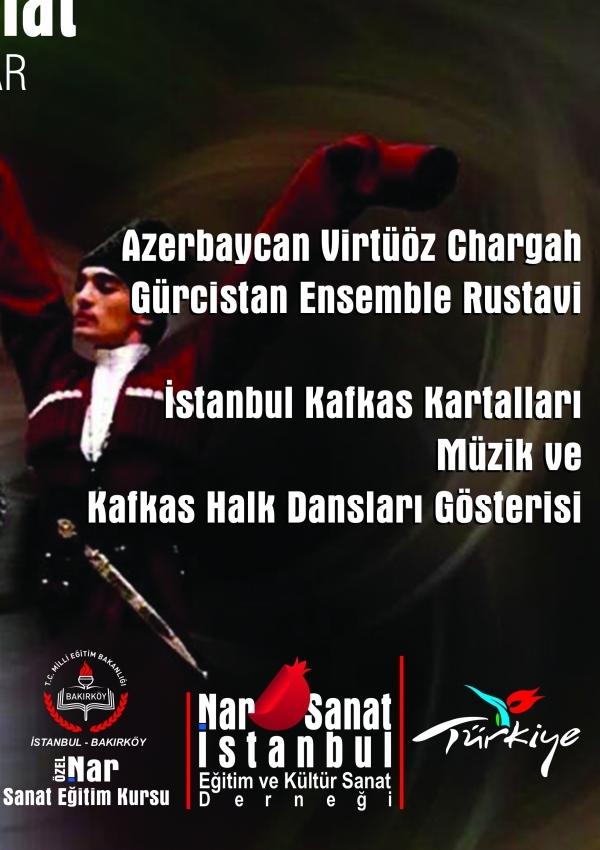 Azerbaycan,  Gürcistan ve Türk Kafkas Dansçıları Gösterisi Etkinlik Afişi