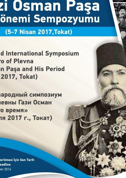 II. Uluslararası Plevne Kahramanı Gazi Osman Paşa ve Dönemi Sempozyumu Etkinlik Afişi