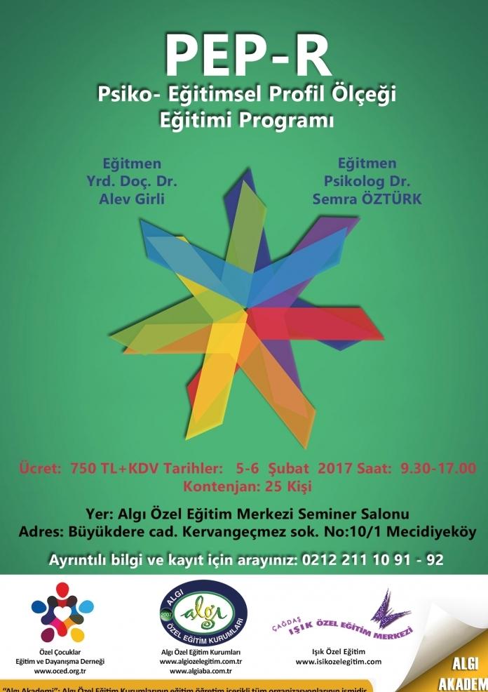 PEP-R Psiko-Eğitimsel Profil Ölçeği Eğitimi Etkinlik Afişi