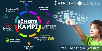 PlayLab Sömestr Kampı - Kış Okulu Etkinlik Afişi