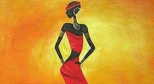 Masterpiece - Afrikalı Dansçı Etkinlik Afişi