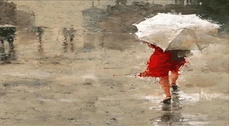 Masterpiece İzmir Resim - Şemsiyeli Kadın Etkinlik Afişi