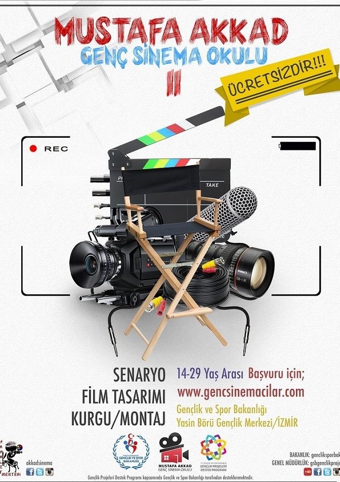 Mustafa Akkad Genç Sinema okulu Etkinlik Afişi