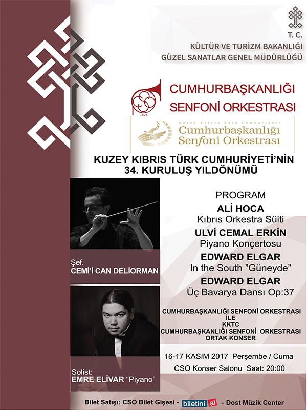 C.S.O.  16 Kasım Konseri Etkinlik Afişi