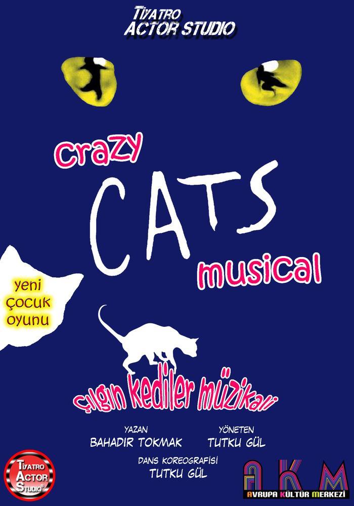 Crazy CAT'S Müzikali Etkinlik Afişi