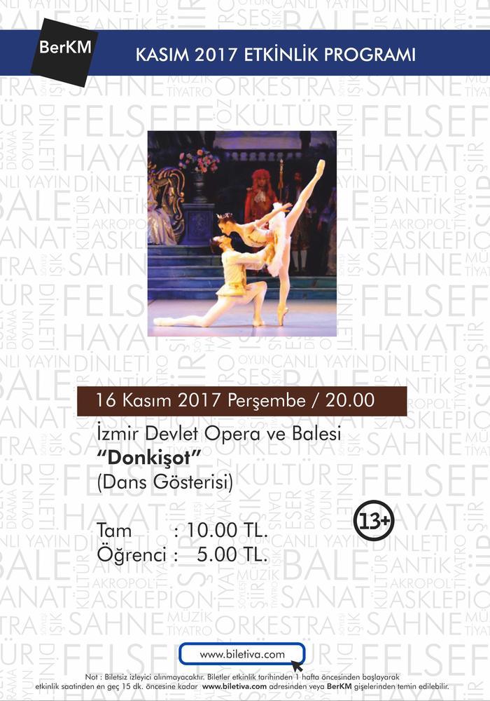 """İzmir Devlet Opera ve Balesi """"Don Kişot"""" Etkinlik Afişi"""