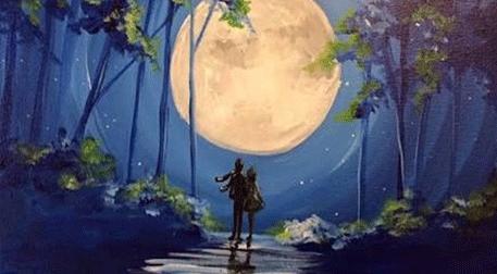 Masterpiece Galata Resim - Sevgililer Günü Özel - Dolunayda Yürürken Etkinlik Afişi