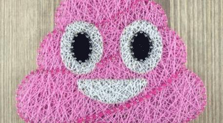 Masterpiece Galata String Art - Emoji Poop Etkinlik Afişi