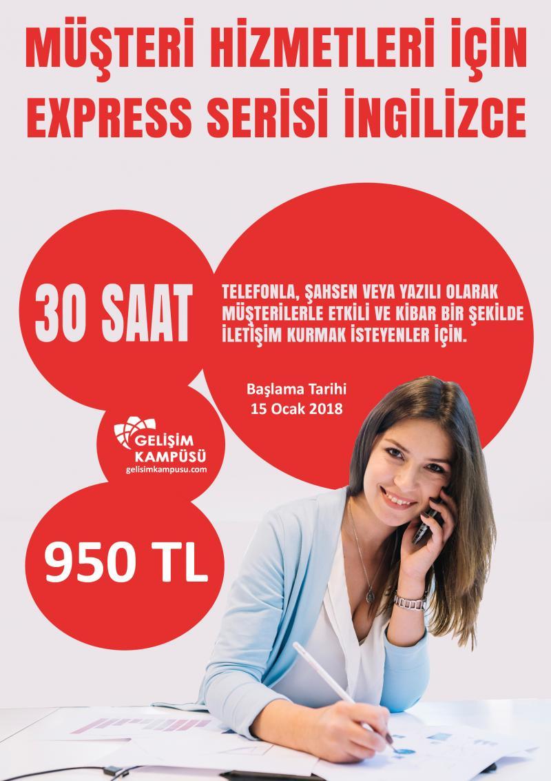 Müşteri Hizmetleri İçin Express Serisi İngilizce Etkinlik Afişi
