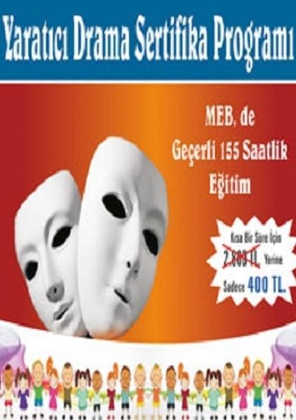Yaratıcı Drama Sertifika Programı Etkinlik Afişi
