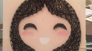Masterpiece String Art - Japon Kız Etkinlik Afişi