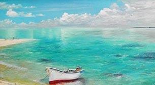 Yağlı Boya Workshop Kayıklı Deniz Etkinlik Afişi