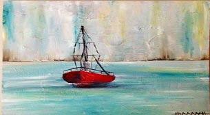 Yağlı Boya Workshop Kırmızı Tekne Etkinlik Afişi
