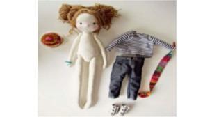 Çocuk Atölyesi Bez Bebek Yapımı Etkinlik Afişi