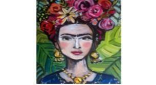 Çocuk Atölyesi Tuval Boyama Frida Etkinlik Afişi
