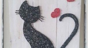 Masterpiece String Art - Kedi Etkinlik Afişi