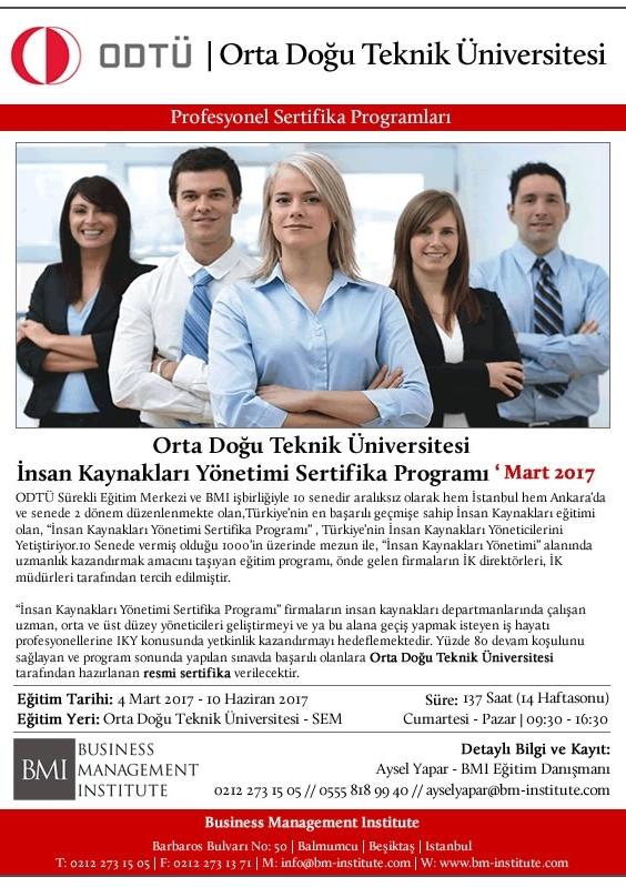 İnsan Kaynakları Yönetimi (ODTU) Etkinlik Afişi