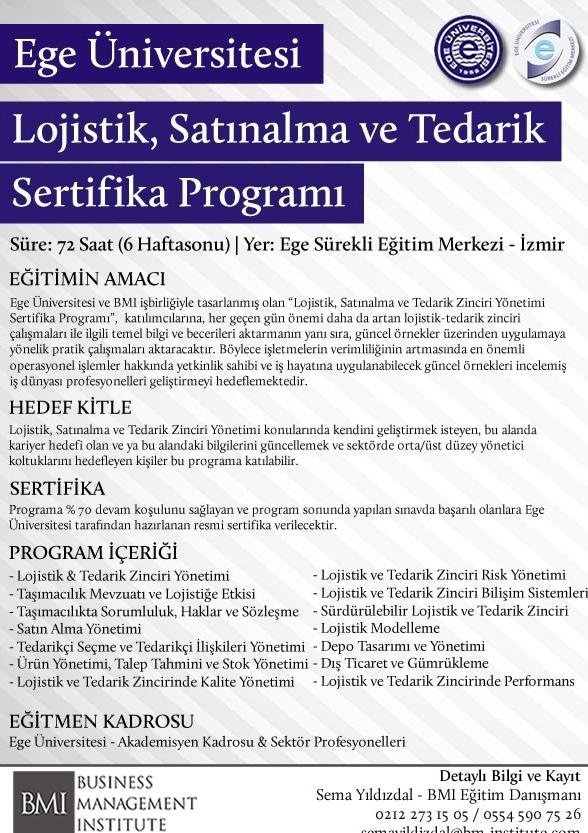Lojistik, Satınalma ve Tedarik Zinciri Yönetimi (EU) Etkinlik Afişi