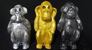 Masterpiece Heykel - Üç Maymun Etkinlik Afişi