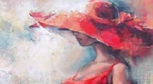 Yağlı Boya Workshop Şapkalı Kız Etkinlik Afişi