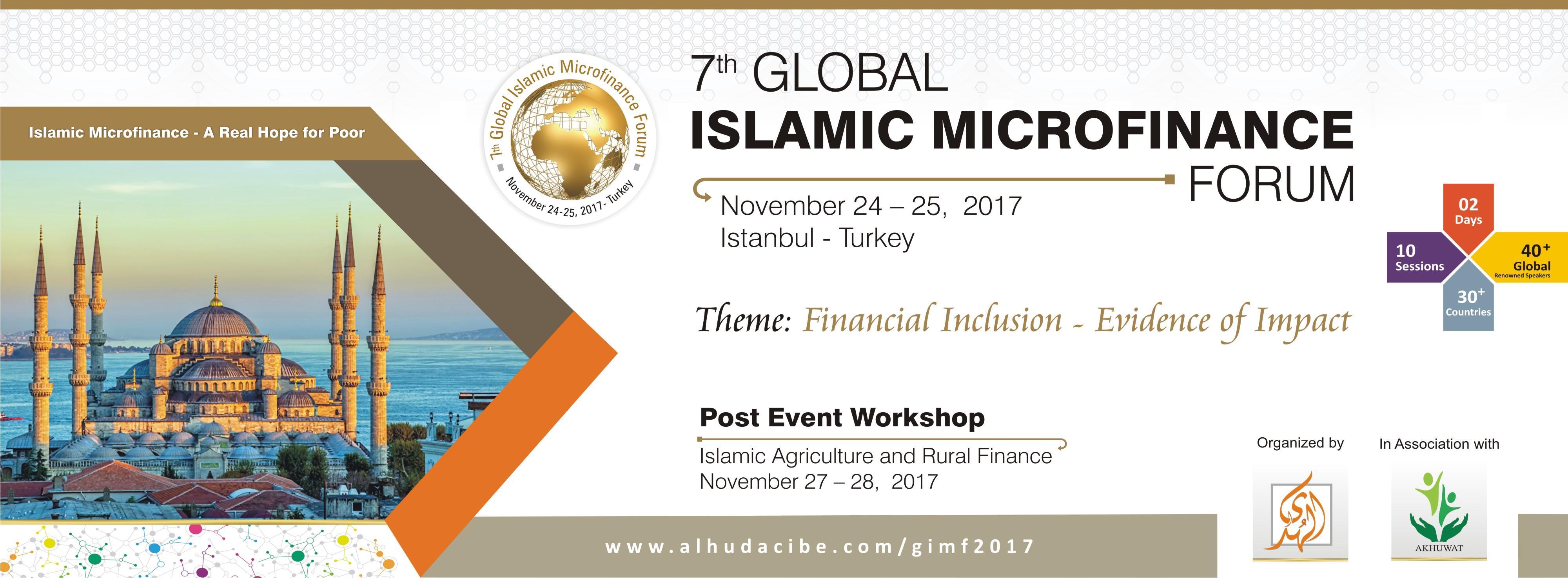 7th Global Islamic Microfinance Forum Etkinlik Afişi