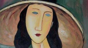 Masterpiece Galata Resim - Amedeo Modigliani - Jeanne Hebuterne Etkinlik Afişi