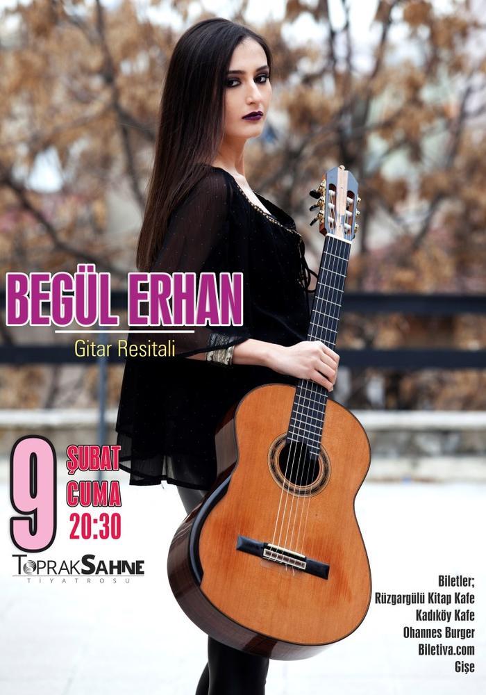Begül Erhan Klasik Gitar Resitali Etkinlik Afişi