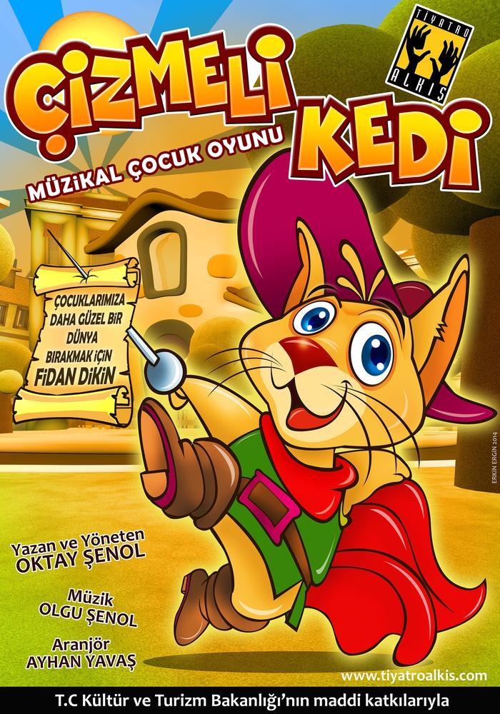 Çizmeli Kedi - Tiyatro Alkış Etkinlik Afişi