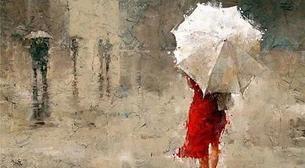 Masterpiece Bostancı Resim - Şemsiyeli Kadın Etkinlik Afişi