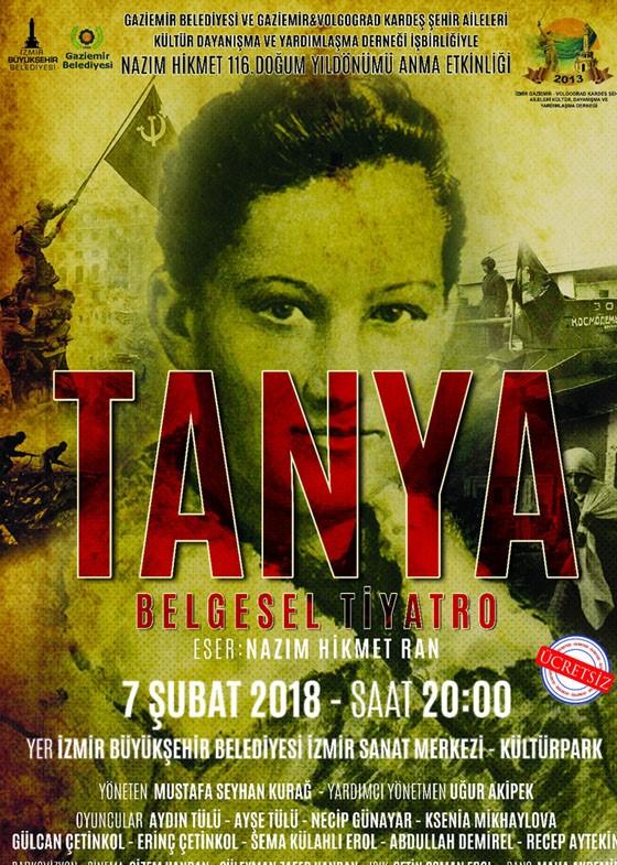 Tanya - Belgesel Tiyatro Etkinlik Afişi