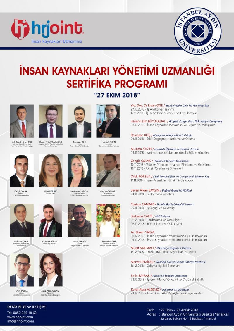 İnsan Kaynakları Yönetimi Uzmanlığı Sertifika Programı Etkinlik Afişi