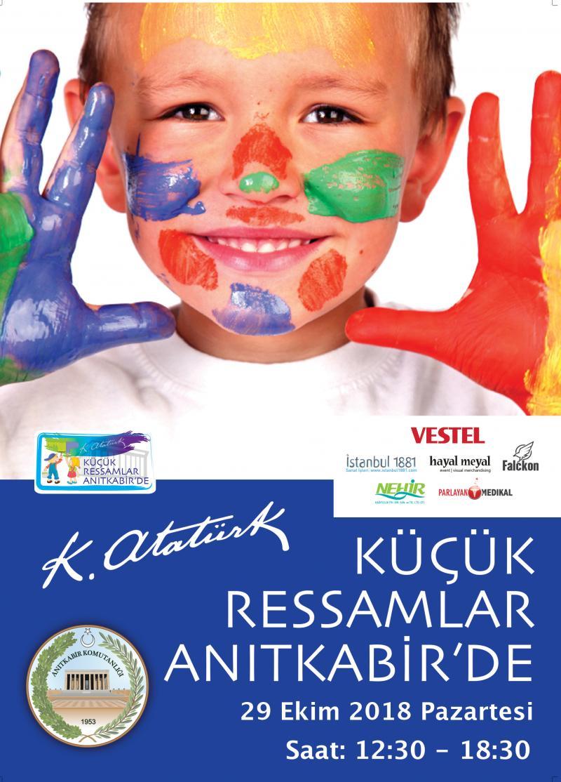Küçük Ressamlar Anıtkabirde 29 Ekim Anıtkabir Boyama Aktivitesi