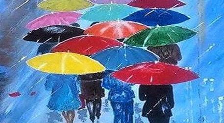 Masterpiece Galata Resim - Renkli Şemsiyeler Etkinlik Afişi