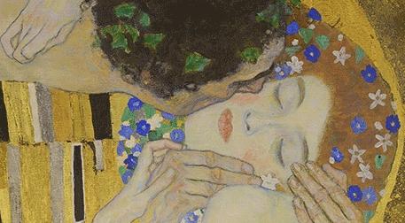 Masterpiece Galata Resim - Klimt - Öpücük Etkinlik Afişi