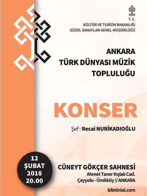 Ankara Türk Dünyası Müzik Topluluğu Etkinlik Afişi