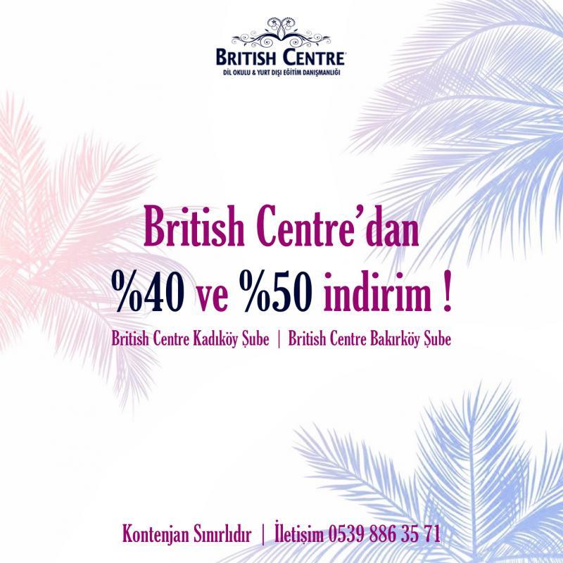 British Centre İndirimli İngilizce Eğitim Etkinlik Afişi