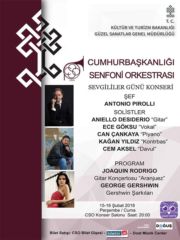 C.S.O. - 15 Şubat Konseri Etkinlik Afişi