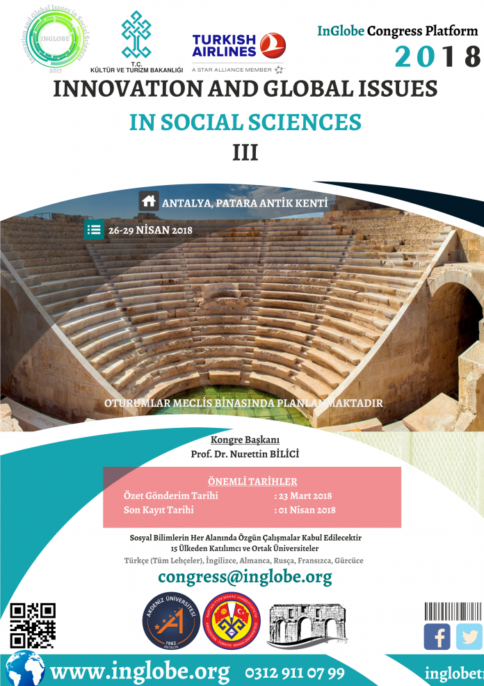 Innovation and Global Issues in Social Sciences III Etkinlik Afişi