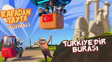 Rafadan Tayfa - Türkiye'dir Burası - Çocuk Müzikali Etkinlik Afişi