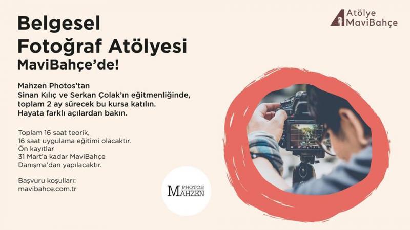 Belgesel Fotoğraf Atölyesi MaviBahçe'de! Etkinlik Afişi
