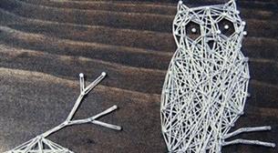 Masterpiece Galata String Art - Baykuş Etkinlik Afişi