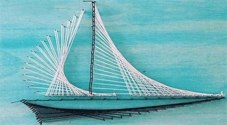 Masterpiece Galata String Art - Yelkenli Etkinlik Afişi