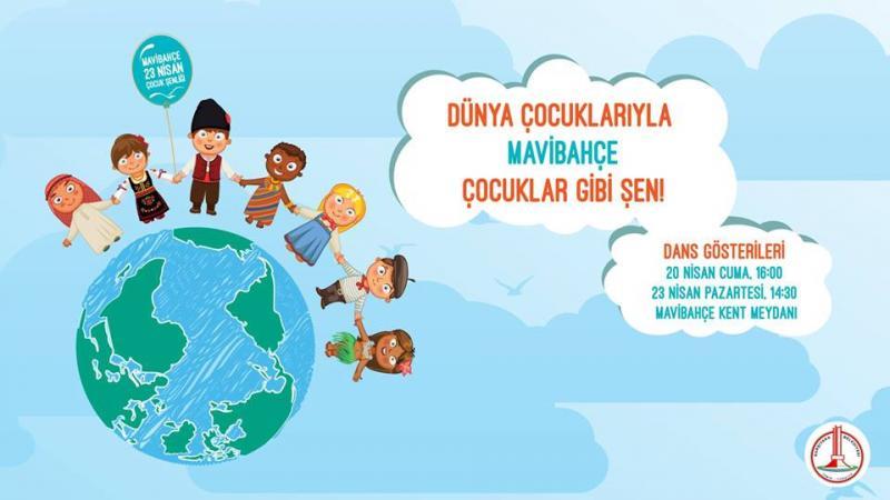 MaviBahçe 23 Nisan Çocuk Festivali Etkinlik Afişi