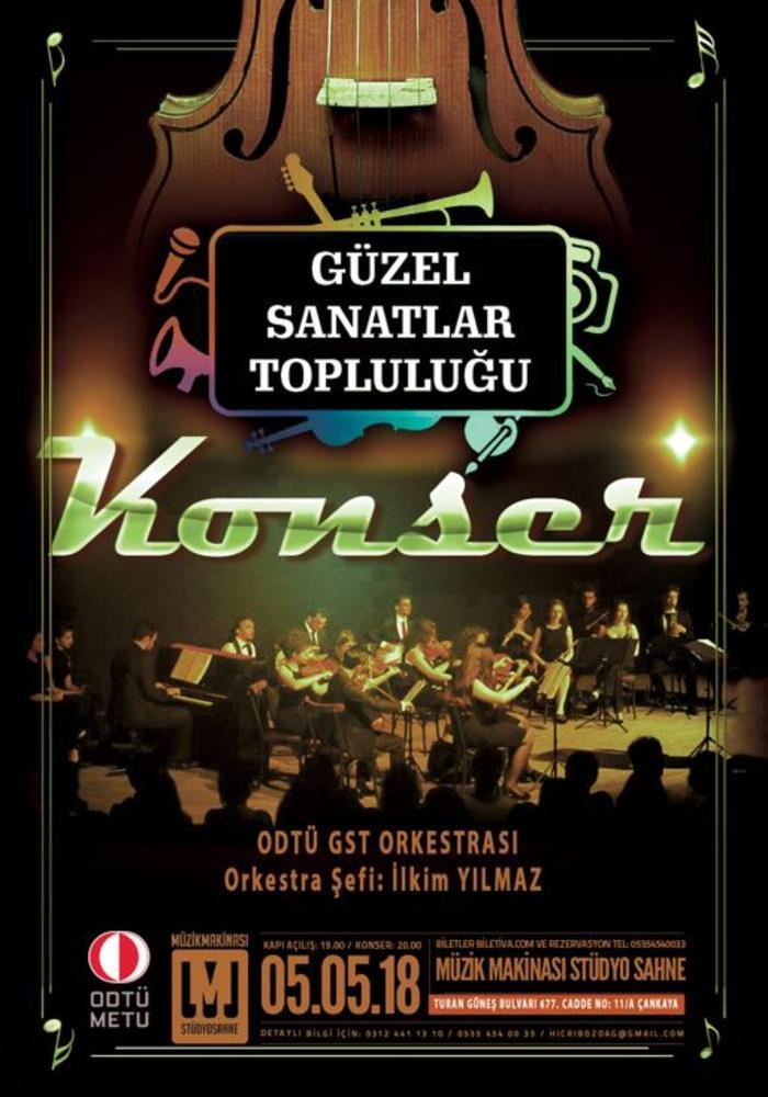 Odtü Gst Orkestrası Konseri Etkinlik Afişi