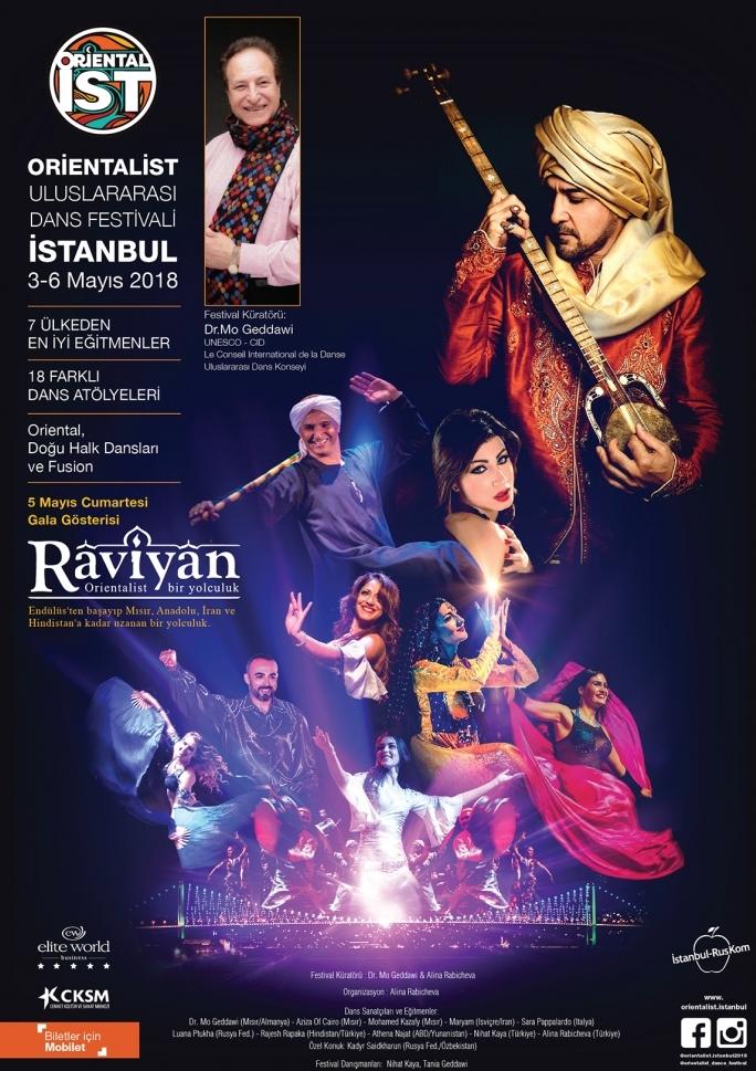 Orientalist Dans Festivali Workshop Etkinlik Afişi