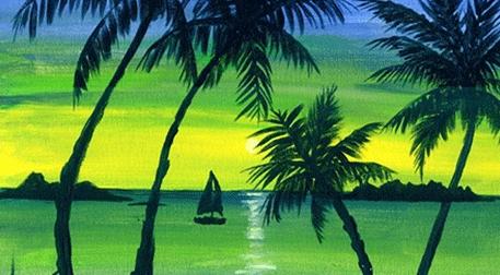 Masterpiece Galata Resim - Tropik Ada Etkinlik Afişi