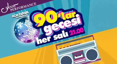 90'lar Türkçe Pop Parti Etkinlik Afişi
