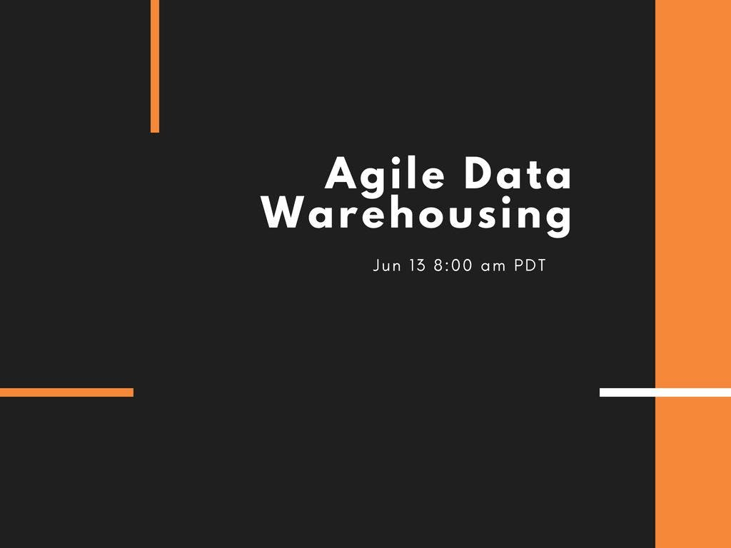 Agile Data Warehousing Etkinlik Afişi