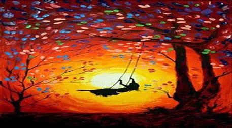 Masterpiece Galata Resim - Salıncakta Kız Etkinlik Afişi