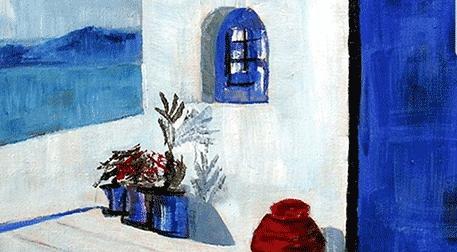 Masterpiece İzmir Resim - Santorini Etkinlik Afişi